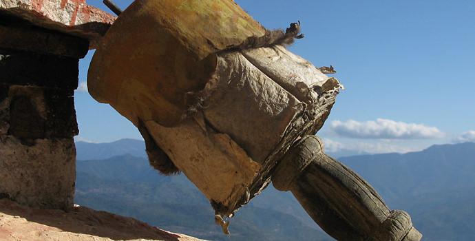 Ancient prayer scrolls in Bhutan